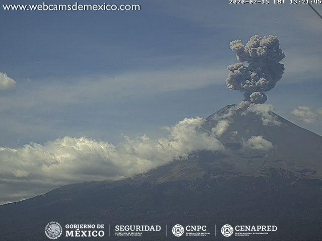 Eruption of Popocatépetl volcano (image: CENAPRED)