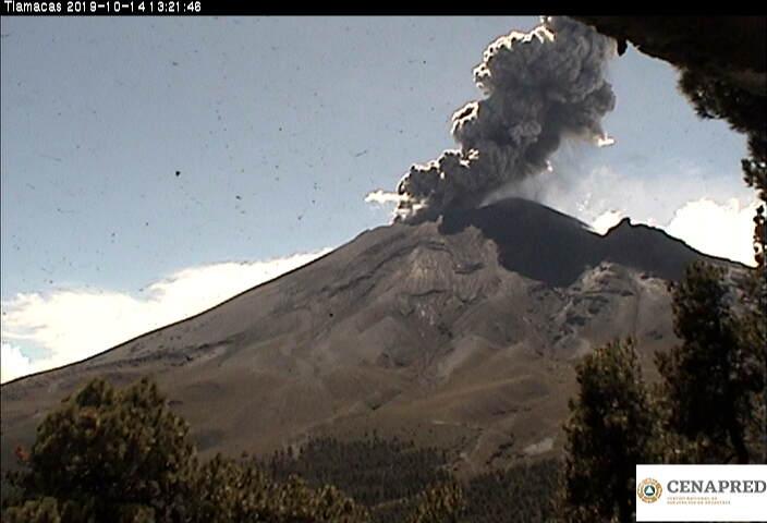 Popocatépetl´s explosion (image: CENAPRED)