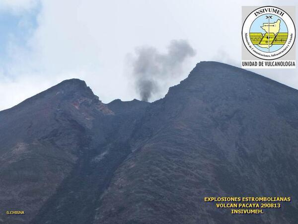 Pacaya volcano last evening (INSIVUMEH)