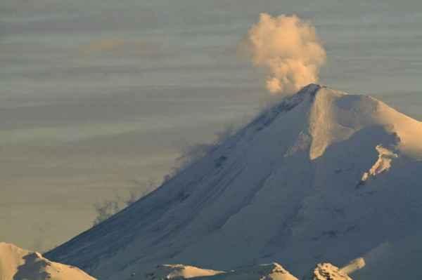 Steam plume from Pavlof volcano on 5 Dec (AVO)