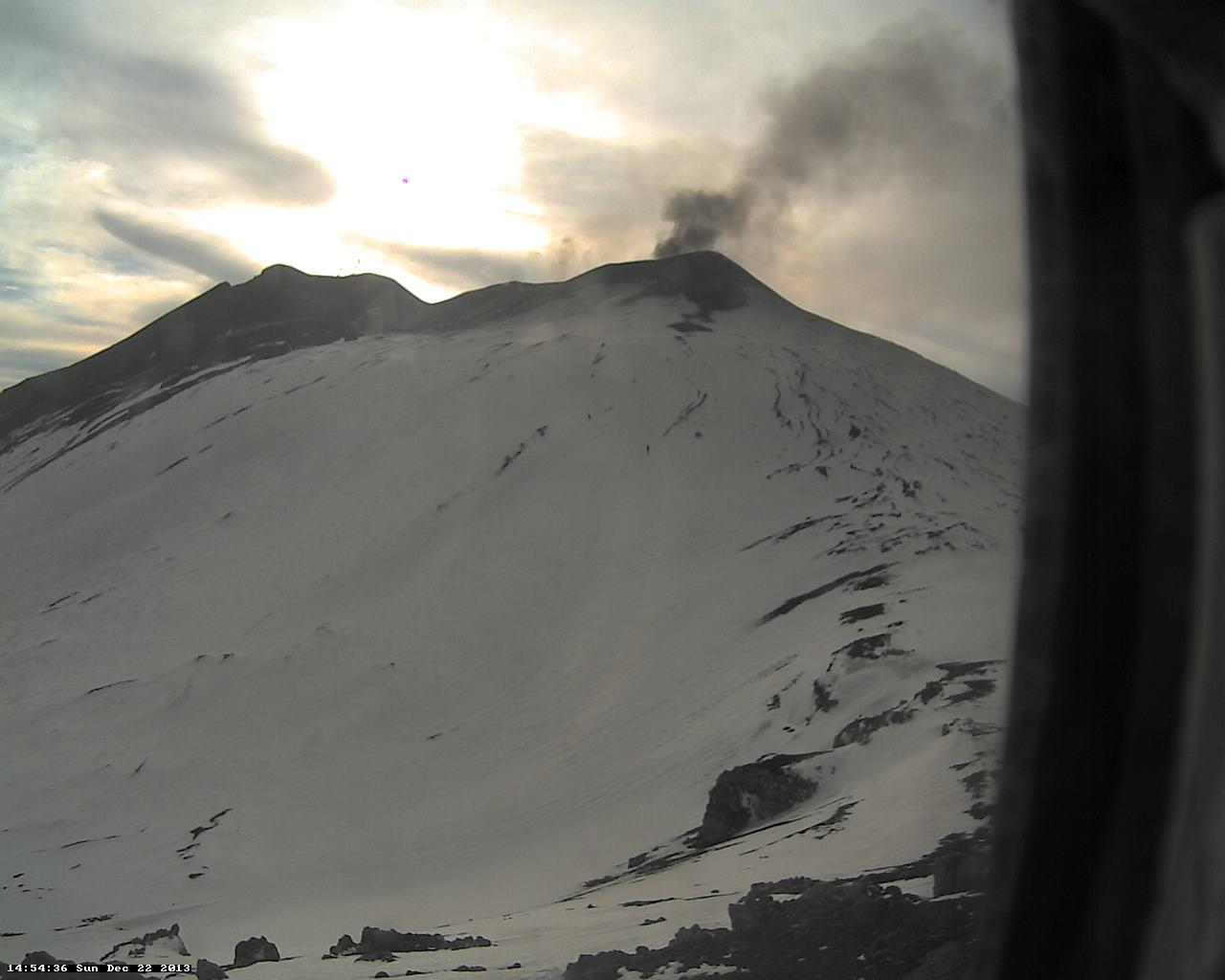 Ash emission from Etna's NE crater