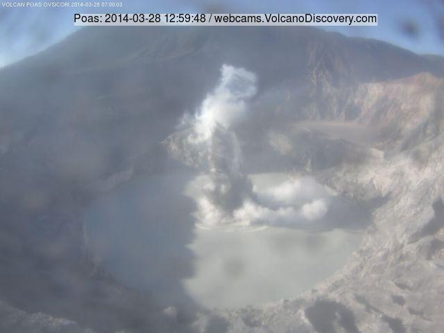 Phreatic eruption at Poás volcano Friday morning (OVSICORI-UNA webcam)