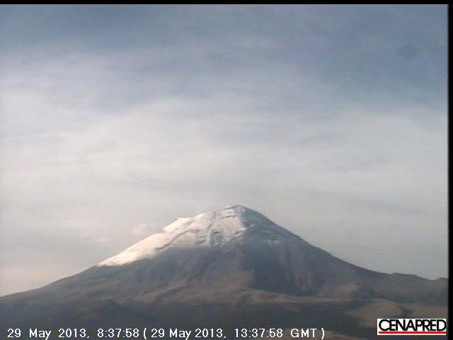 Current webcam view of Popocatépetl