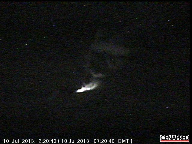 Bekijk van Popocatepetl vanmorgen