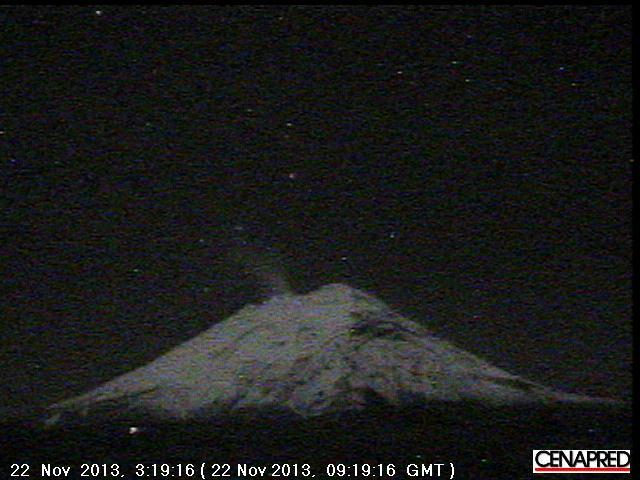 Popocatépetl vanochtend