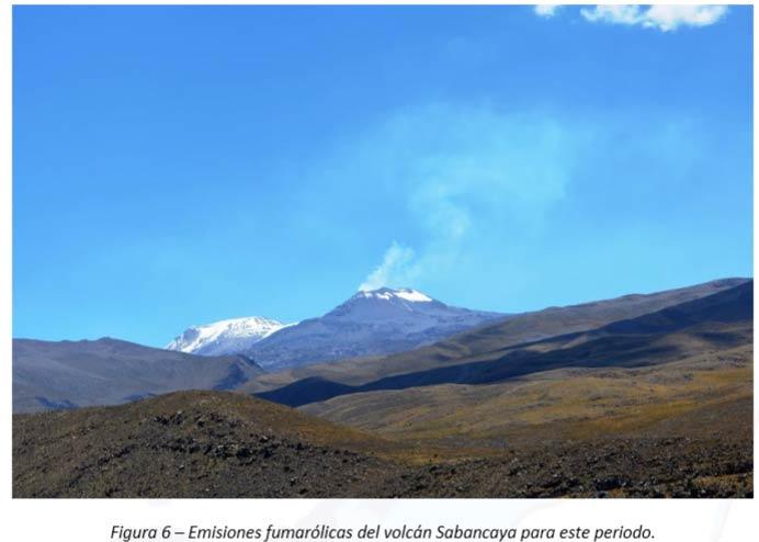 Degassing plume from Sabancaya last week (IGP)