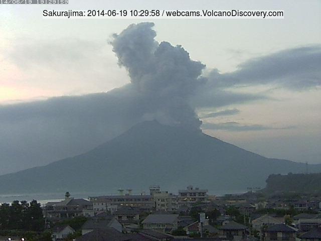 Eruption at Sakurajima this morning