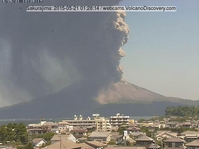 Strong explosion at Sakurajima yesterday