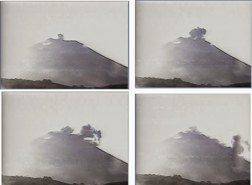 Ash plume from San Miguel's eruption on Monday (MARN)