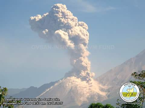 Santiaguito's explosion yesterday morning