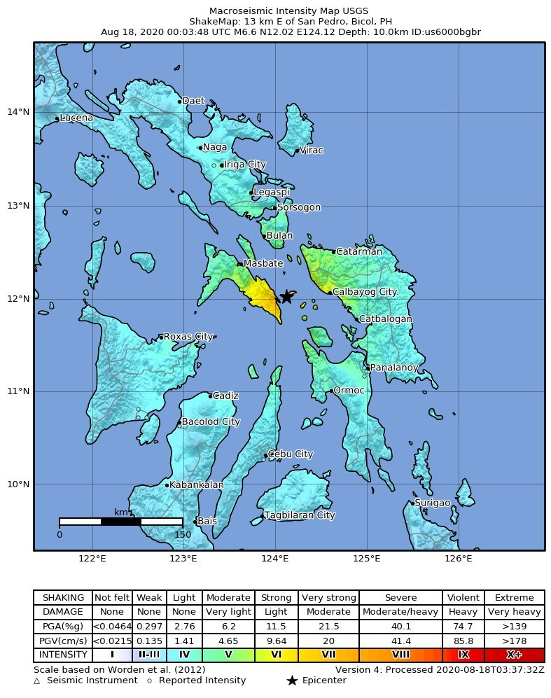 Extensive damage on Masbate Island, Philippines, by mag 6.6 quake this morning / VolcanoDiscovery