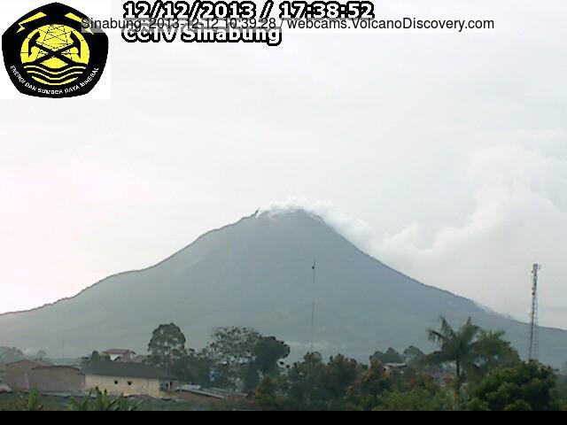 Ontgassing van Sinabung vulkaan