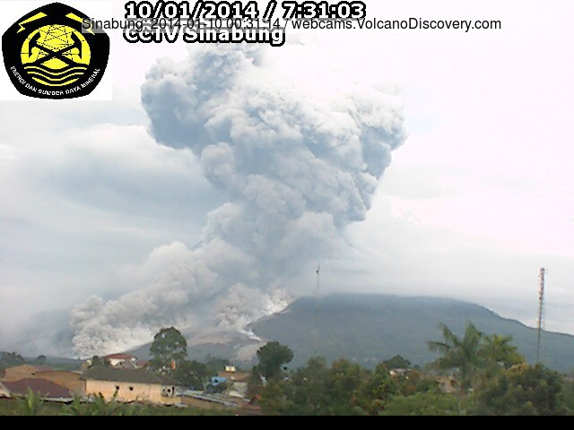 4.5 km long pyroclastic flow from Sinabung this morning