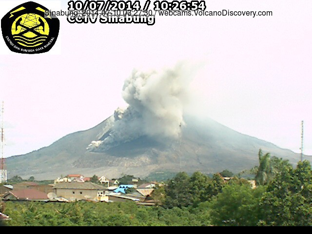 Small pyroclastic flow at Sinabung this morning