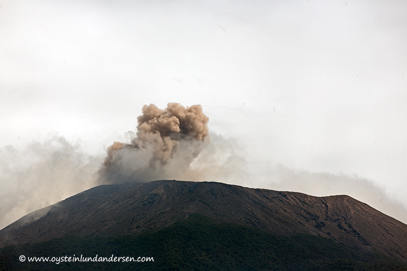 Ash puff from a strombolian eruption at Slamet last weekend