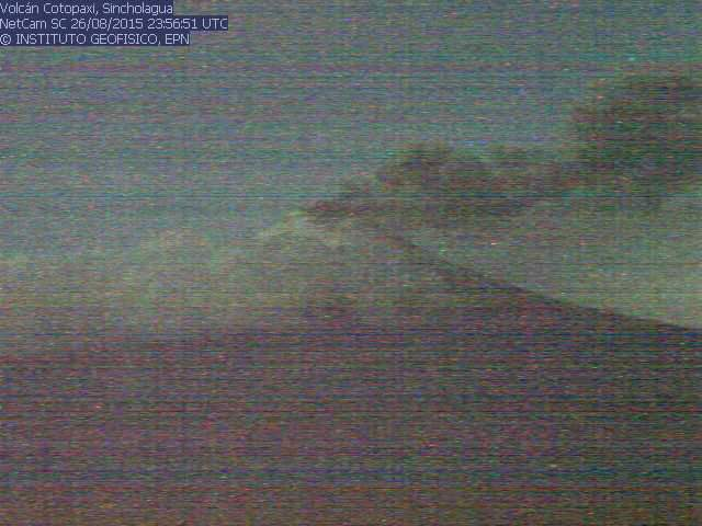 Cotopaxi volcano spewing ash this morning
