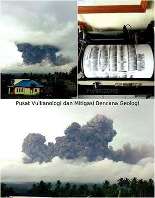 Eruption of Soputan volcano this morning (image: VSI)
