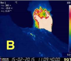 Strong Strombolian explosion on Feb 15th (INGV Catania)