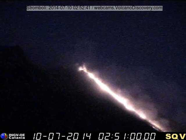Lava flow on Stromboli this morning