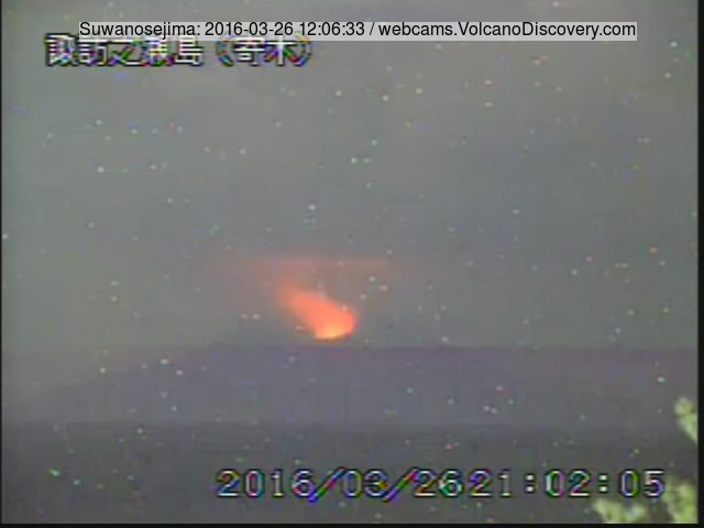 Eruption at Suwanose-jima this morning