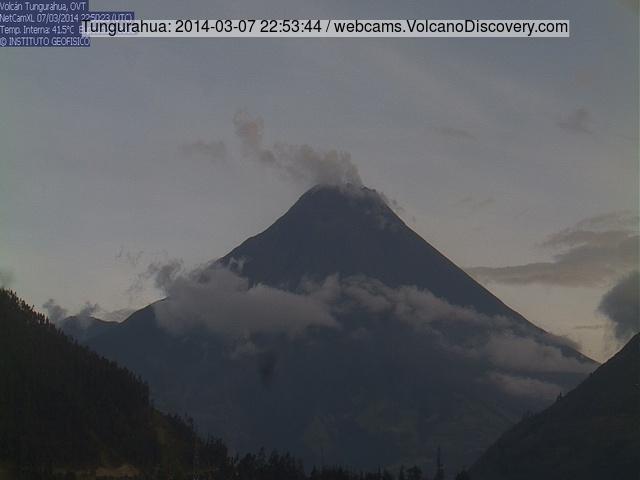 Tungurahua volcano last evening