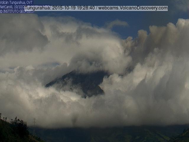 Ash emission from Tungurahua yesterday