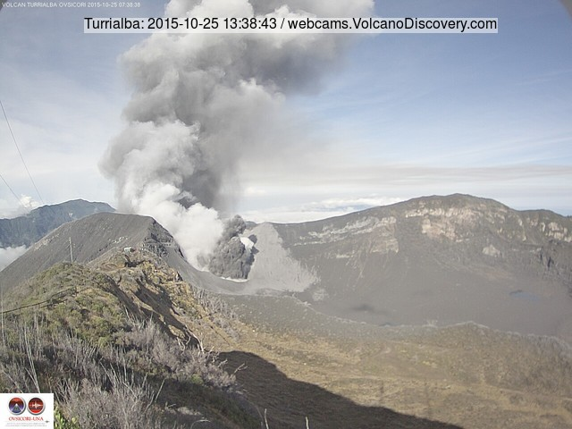 Eruption at Turrialba yesterday morning (OVSICORI-UNA webcam)