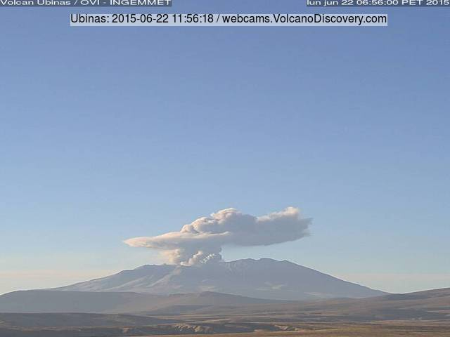 Eruption of Ubinas volcano today