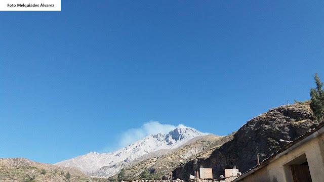 Increased degassing from Ubinas volcano on 13 Sep 2016 (image: Melquiades Alvarez / IGP)