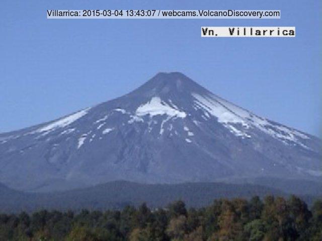 Villarrica volcano this morning (SERNAGEOMIN webcam)
