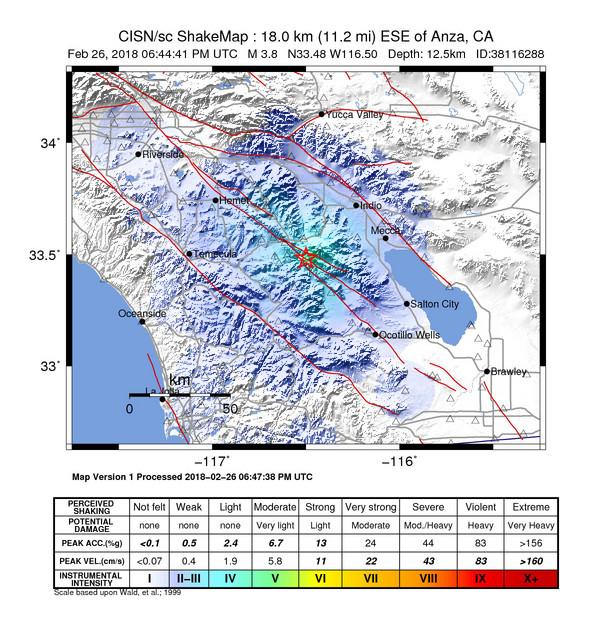 Earthquake info : M3 7 earthquake on Monday, 26 February