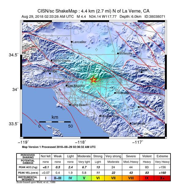 Earthquake info : M4.4 earthquake on Wednesday, 29 August ... on
